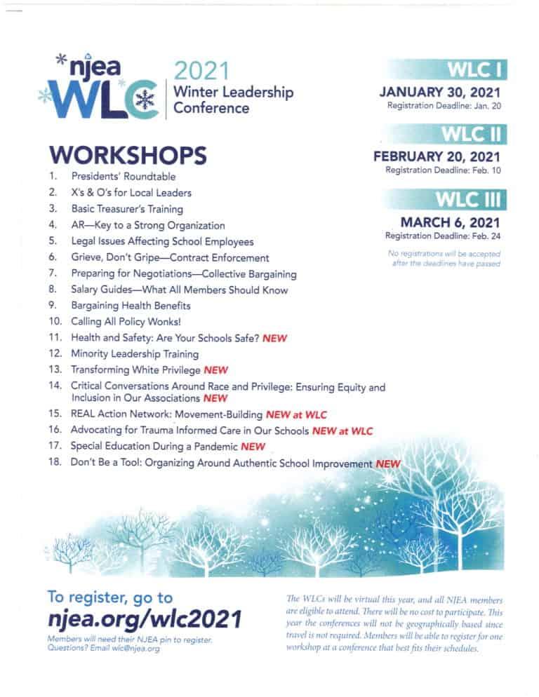 NJEA Winter Leadership Conference