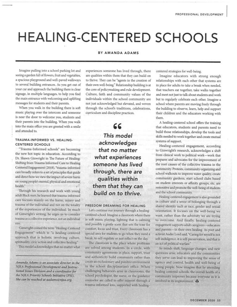 Healing-Centered Schools